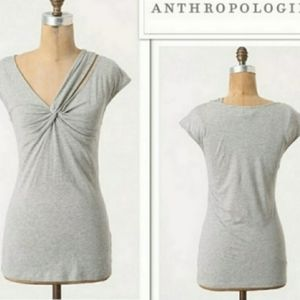 Deletta Knotted Top Twisted Vneck Tshirt